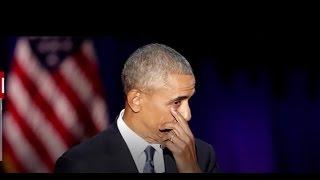 Обама прослезился. Новости. Прощальная речь Обамы