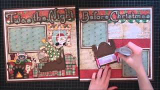 Faith Abigail Designs - Twas the Night Before Christmas Scrapbook Layout Tutorial