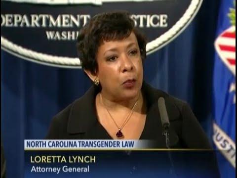 US Attorney General Loretta Lynch on Transgender Law North Carolina May 9, 2016