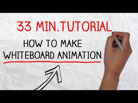 Tutorial - How to make doodle videos using whiteboard animation software
