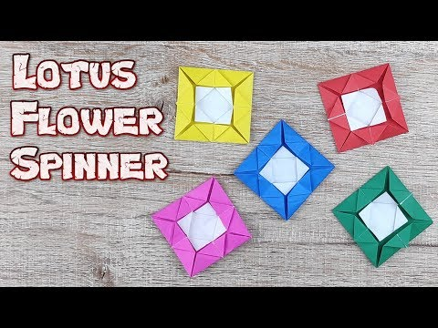 Lotus Flower Origami | How To Making a Ninja Weapons Paper Tutorials | DIY Paper Blade Spinner