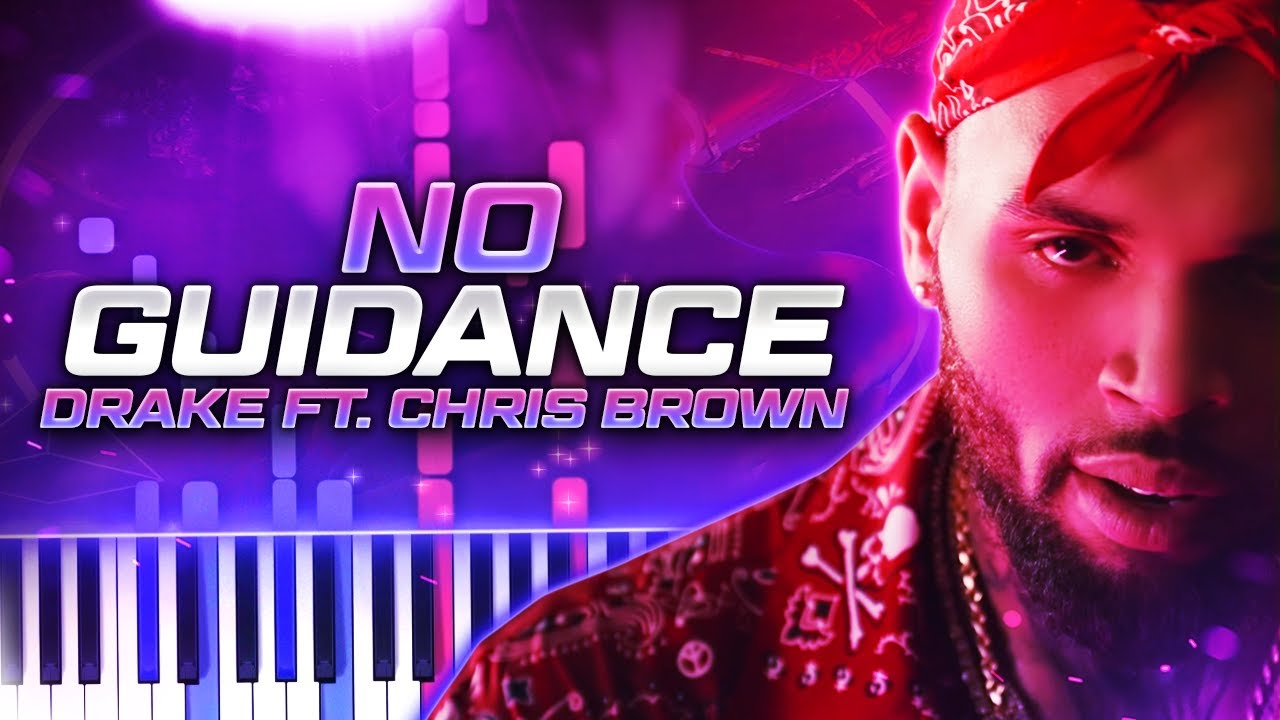 No Guidance | Chris Brown (feat  Drake) // Piano Synthesia Cover & Tutorial