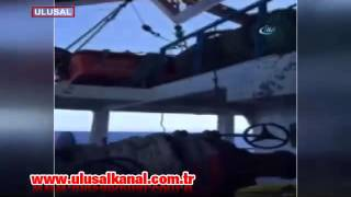 Libya'da vurulan Türk gemisinin yeni görüntüleri çıktı