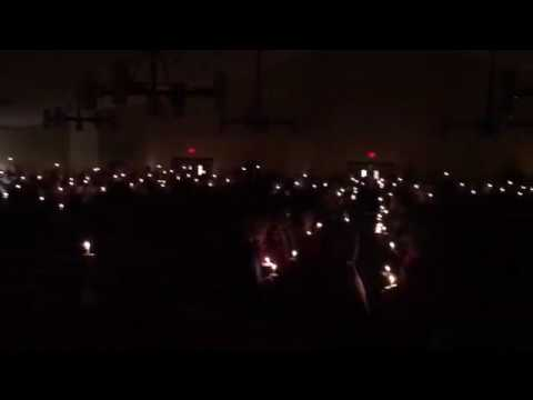 Christmas Eve singing from candlelight service