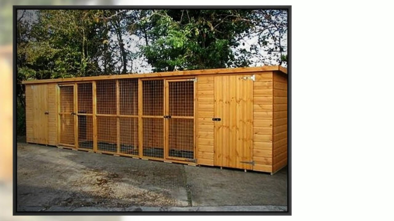 Dog kennels dog runs for sale youtube for Best dog kennels for sale
