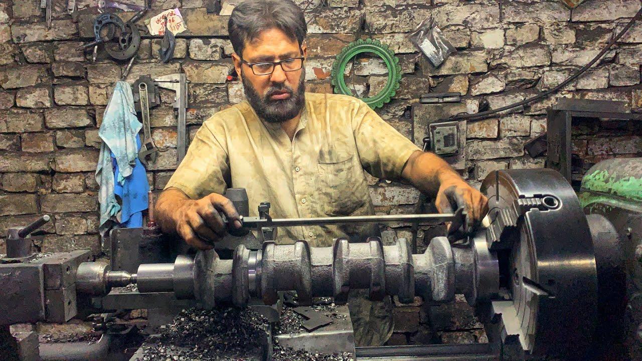Download Production of Crankshafts in Factory Complete Process    Machining 3 Cylinder Engine Crankshaft