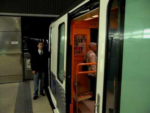 Départ du métro de la station La Blancarde vers La Fourragère - Marseille