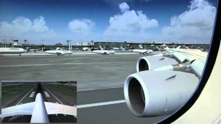 FS2004 LUFTHANSA A380-800 Frankfurt to Tokyo (Narita) 1/2