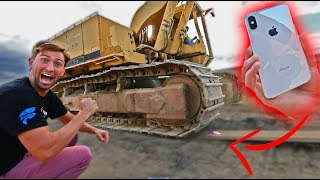 IPHONE X CRUSHED BY 30,000LB TRACTOR