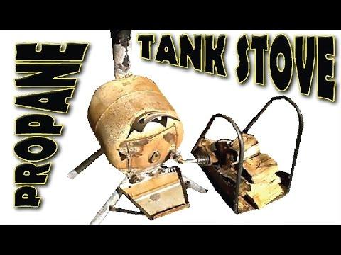 Propane Tank Pot Belly Stove Build Youtube