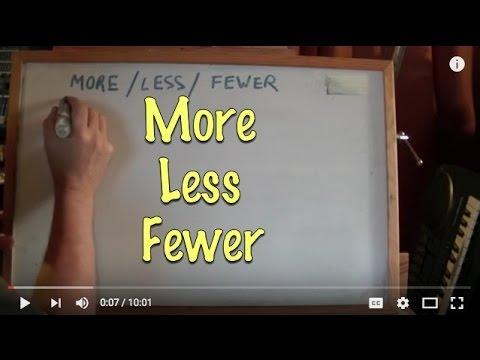 INGLÉS. 71- More / Less / Fewer. Inglés para hablantes de español, Tutorial