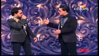 Mika Singh Wth Sharukh Khan