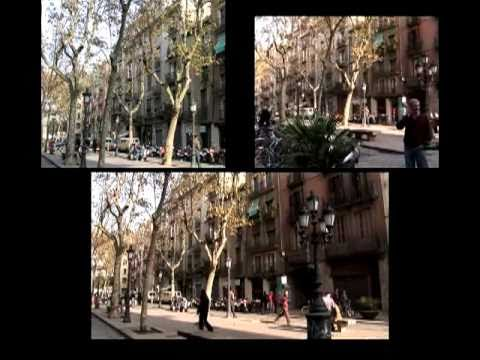 Barcelona in three screens