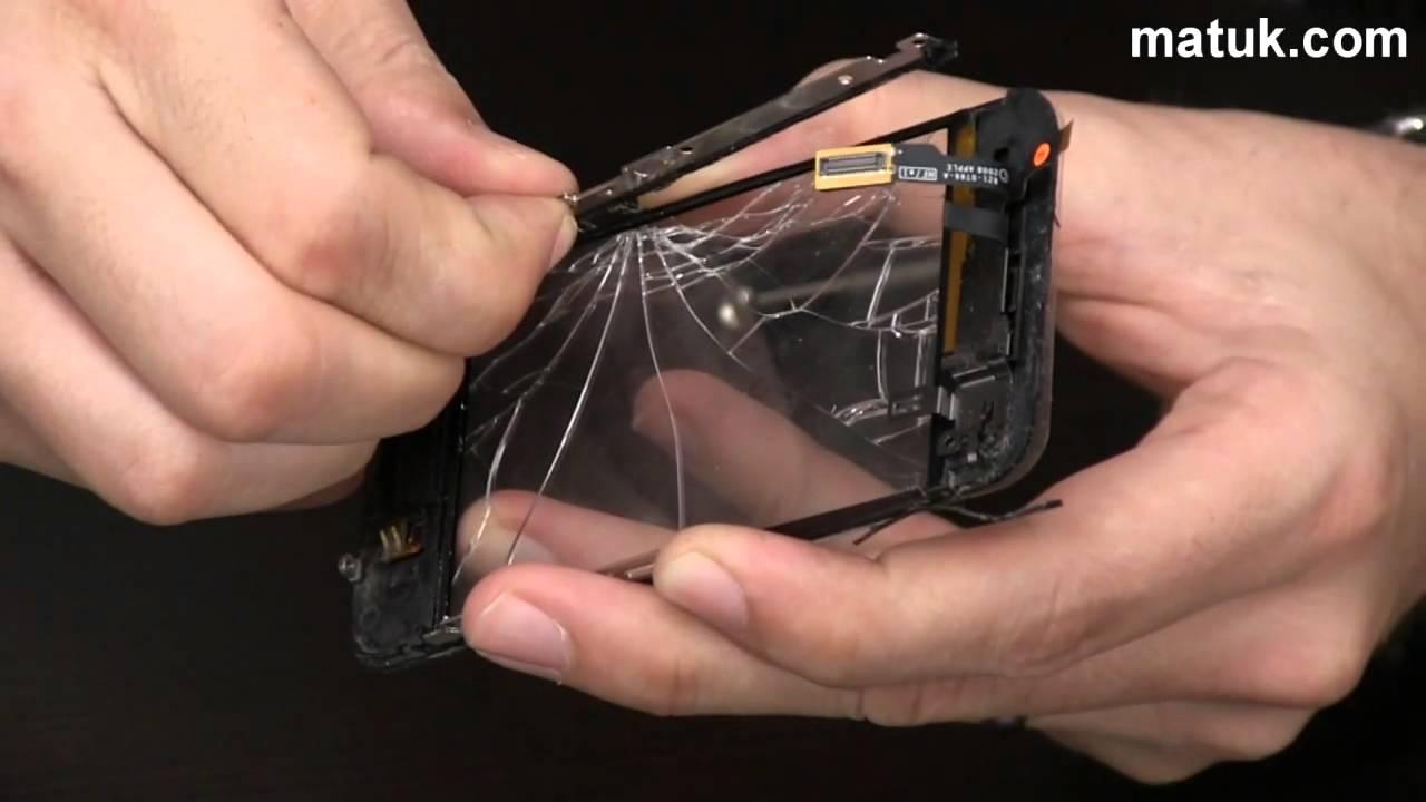 Cómo cambiar el vidrio roto de un iPhone? - YouTube