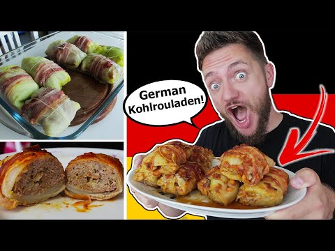 American makes GERMAN CABBAGE ROLLS for the first Time! (Krautrouladen)