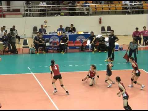 การแข่งขันวอลเลย์บอลหญิงทีมชาติไทยชนะทีมชาติญี่ปุ่น