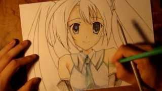 Как нарисовать Аниме. Хатсуне Мику  Hatsune Miku(Лучшая группа: http://vk.com/club61619523 В этом уроке я расскажу как рисовать Хатсуне Мику ( Hatsune Miku ) http://wallpapersus.com/wallpapers..., 2013-06-29T20:10:39.000Z)