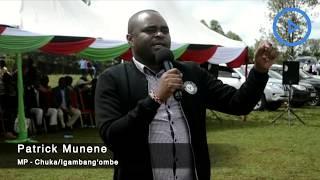 Chuka/Igambang'ombe MP Munene urges politicians in Tharaka-Nithi to shun divisive politics