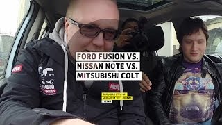 Ford Fusion vs. Nissan Note vs. Mitsubishi Colt  - 5 серия - Нижний Новгород - Большая страна - БТД