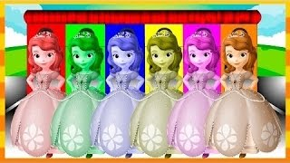 ソフィア色のソフィアで学ぶ子供のための最初の色、mcqueen、足のパトロール - 子供のための色