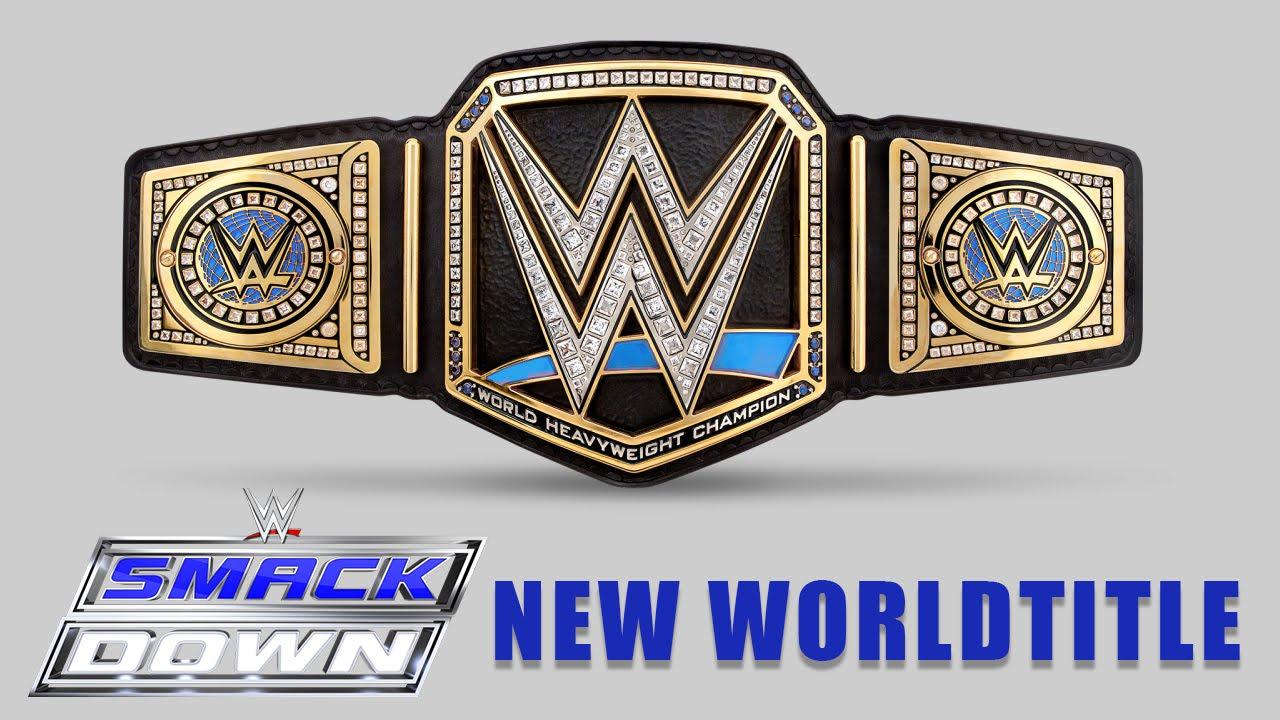 NEW WWE SMACKDOWN WORLD HEAVYWEIGHT TITLE (CONCEPT!) WWE DRAFT 2016/BRAND SPLIT!