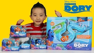 Unboxing Disney Finding Dory Toys Marine Life Playset And Robo Fish By ZURU Nemo Bailey Ckn Toys