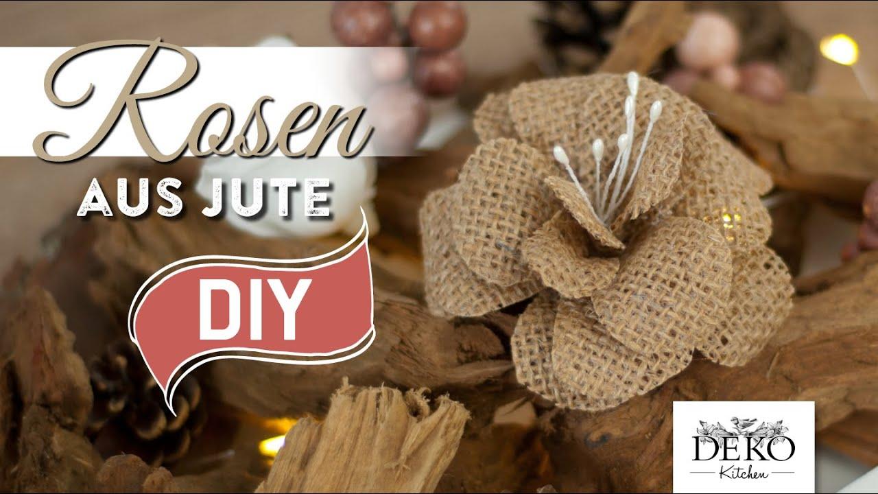 diy rosen aus jute f r tolle herbst dekos deko kitchen youtube. Black Bedroom Furniture Sets. Home Design Ideas