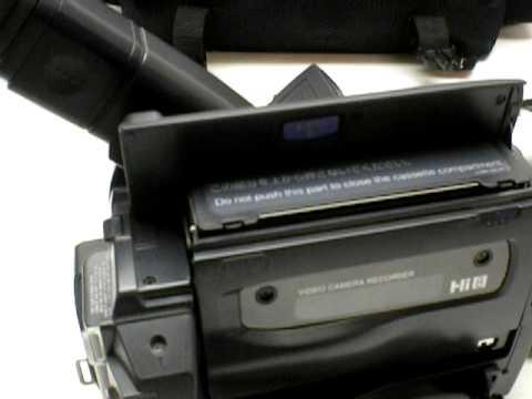 sold sony ccd trv58 handycam camcorder night vision nightshot is on rh youtube com Handycam Sony TRV57 sony ccd trv58 ntsc manual