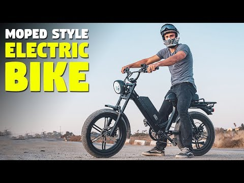 This is a moped style electric bike!