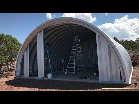 DIY Quonset House #3: Earl Discussed End Walls, Insulation, and Framing