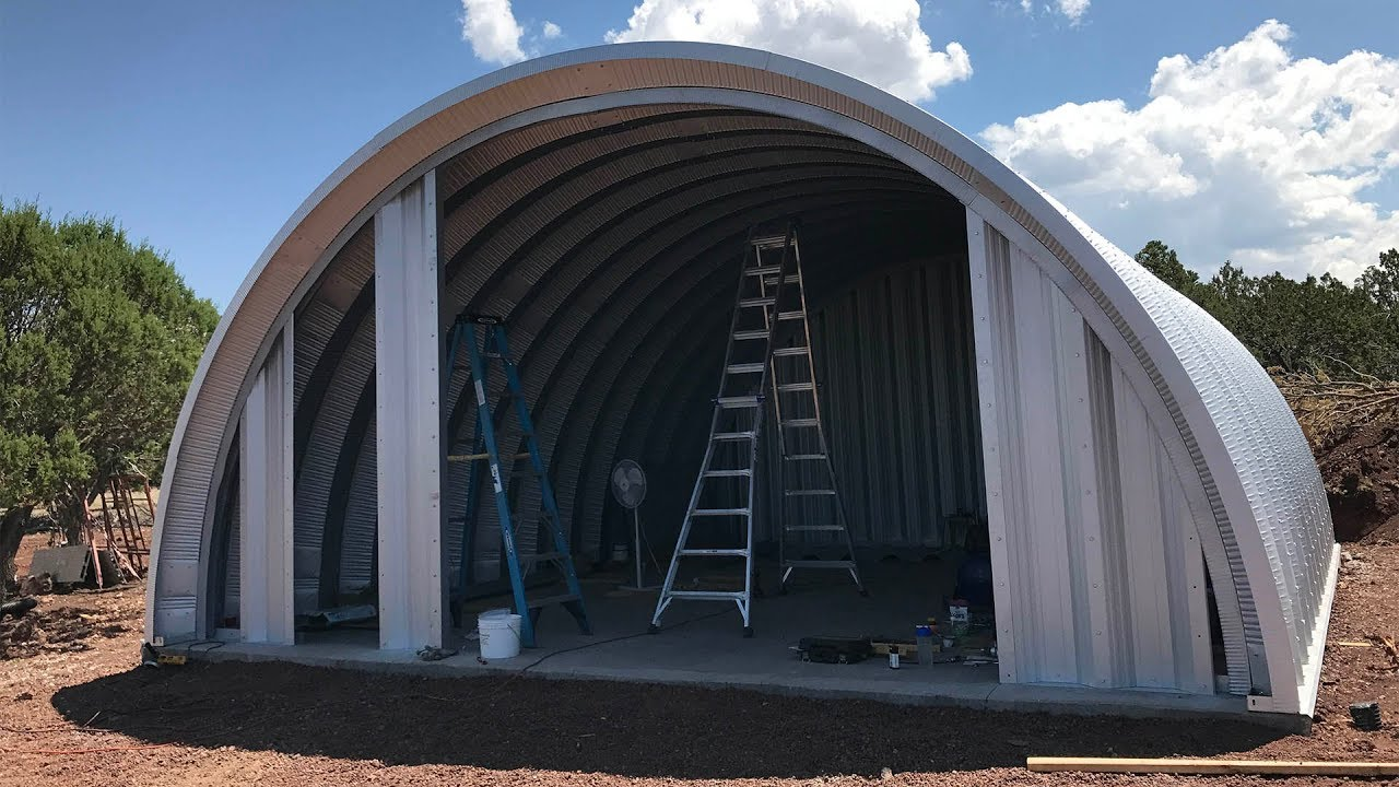 Diy quonset house 3 earl discussed end walls insulation and diy quonset house 3 earl discussed end walls insulation and framing solutioingenieria Image collections