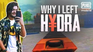 Why I Left HYDRA | Pubg Mobile Live | Gaming Guru