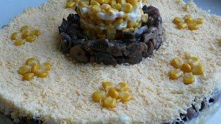 Слоеный салат с грибами на праздничный стол. Салаты рецепты.Salad