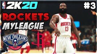 NBA 2K20 HOU Rockets MyLeague - James Harden BIG Performance vs ZION's Pelicans! (EP 3)