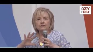 HILLARY CLINTON WEARING LIFE ALERT DEVICE AT OZY FEST?