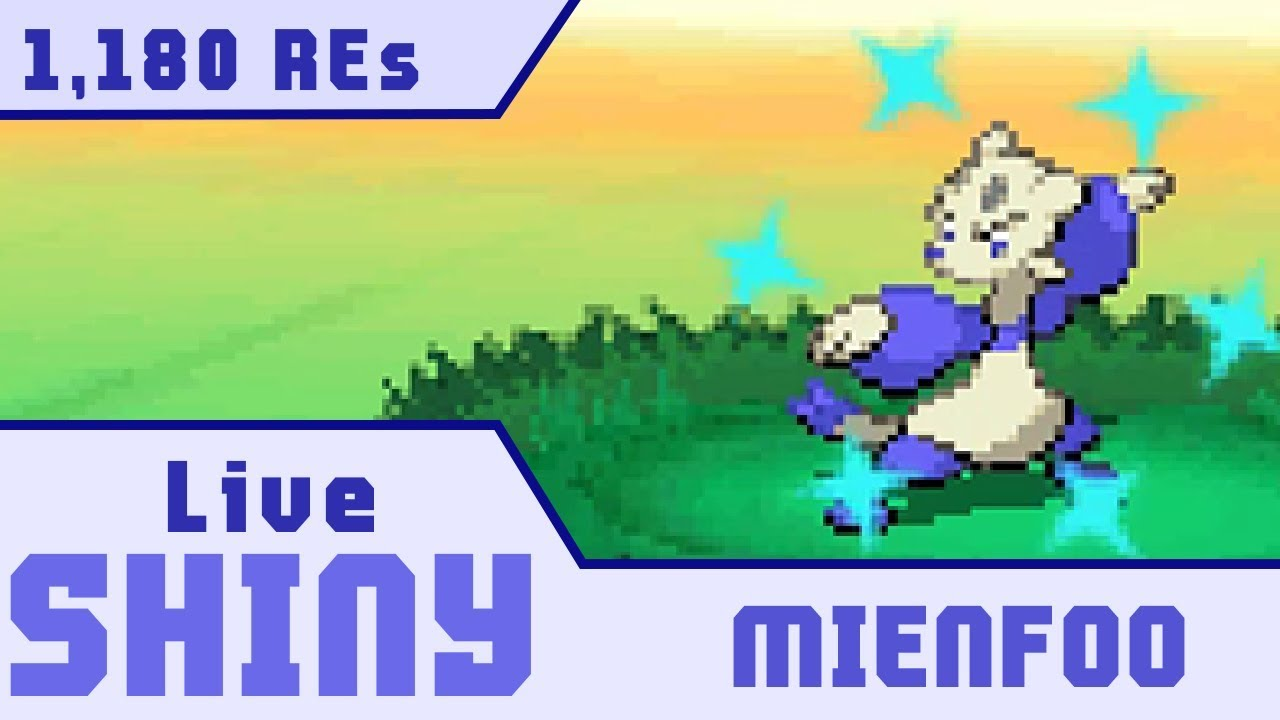 Dtq 5 Live Shiny Mienfoo In 1 180 Res Pokemon W2 Youtube