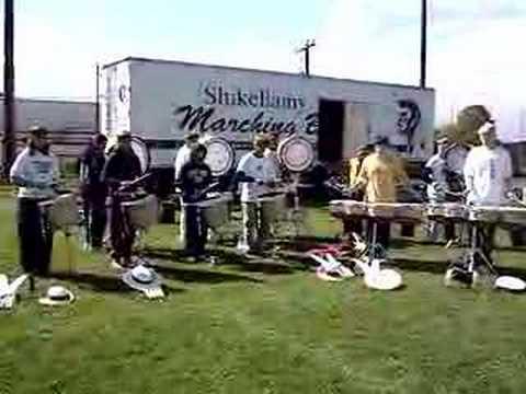 Shikellamy Drumline Warmup 07