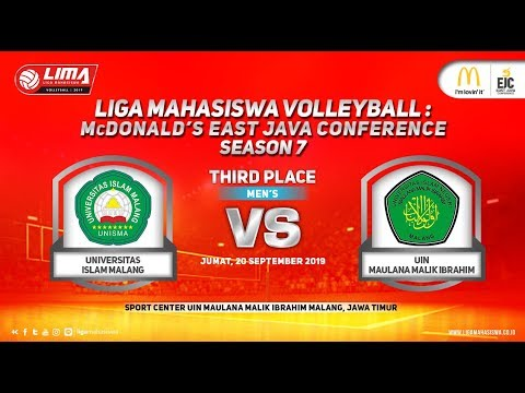 Third Place Unisma vs UIN Mlg LIMA Volleyball: McDonald's EJC Season 7