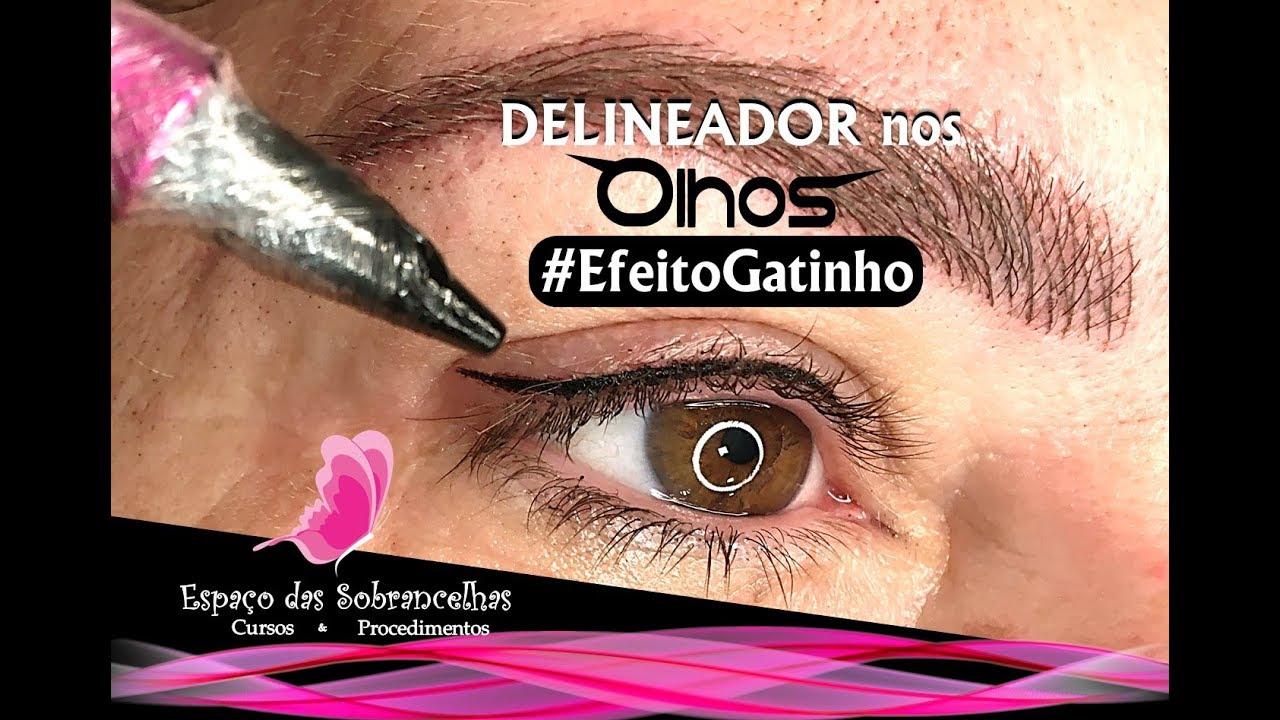 Delineador nos Olhos   EFEITO GATINHO