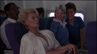 Police Academy 5 (1988) Airplane scene with Michael Winslow, David Graf  Marion Ramsey.