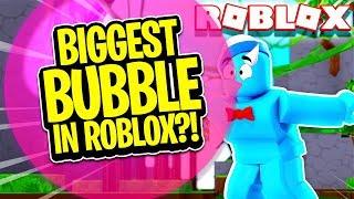 The BIGGEST BUBBLE in Roblox?! (Bubble Gum Simulator)