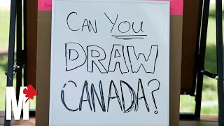 Drawing Challenge: People draw map of Canada from memory