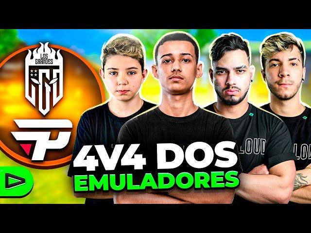 LOUD vs. LOS PAIN!! 4V4 COMPLETO VALENDO 1000 REAIS!! FREE FIRE