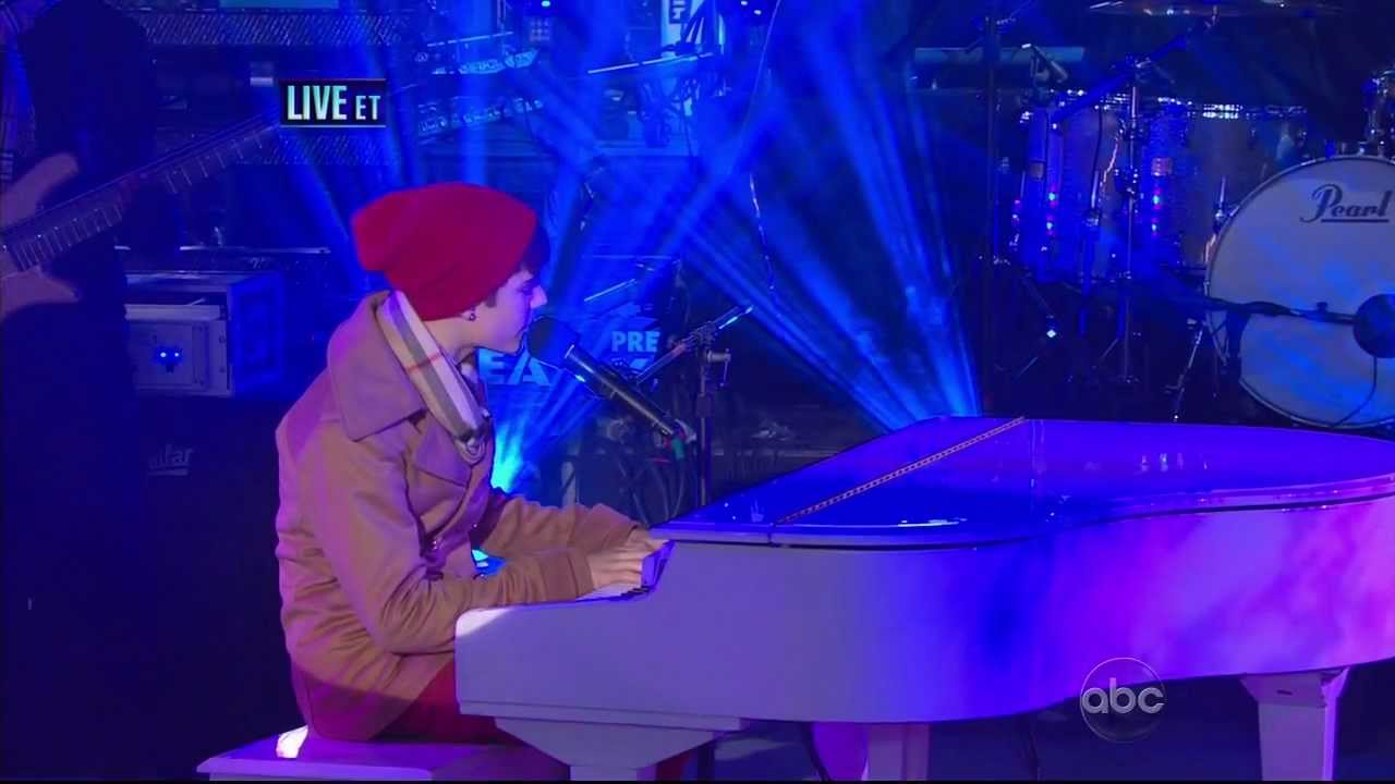 Justin Bieber - Let It Be - Dick Clark's New Year's Rockin' Eve - with Carlos Santana