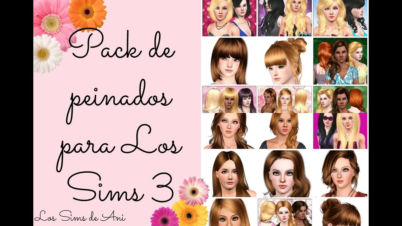 Minimalista pack de peinados sims 4 Fotos de cortes de pelo tendencias - Descargar mi pack de peinados - Los Sims 3 - YouTube