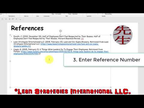 Creating References In PowerPoint