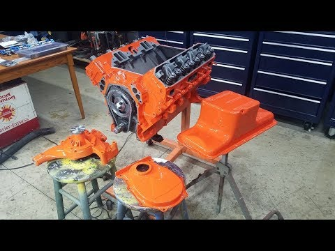 How to Paint Your Engine - Masking, Priming, Painting on this 440 MOPAR Big Block