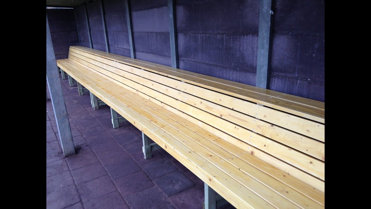 How To Build Baseball Dugout Benches Youtube