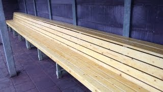 Building Baseball Dugout Benches