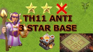 TH11 (Town Hall 11) Anti 3 Star War/Pushing/Trophy Base Build + Replays - Clash of Clans 2018